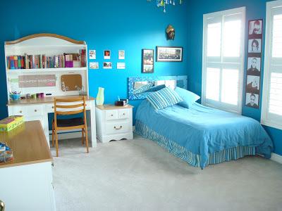 غرف نوم اطفال لون ازرق وابيض   منتديات بورصات