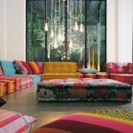 غرف جلوس ملونة