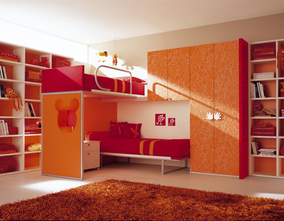 Gallery For Orange Kids Bedroom