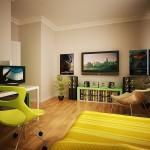 اللون الليموني لتزيين غرف النوم