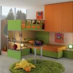 الاخضر والبرتقالي لسراير بدورين للاطفال  - 73333