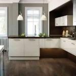 ارضيات خشبية للمطابخ باللون البني - 78825