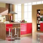 لمسات اللون العنابي بالمطبخ الرائع  - 76091
