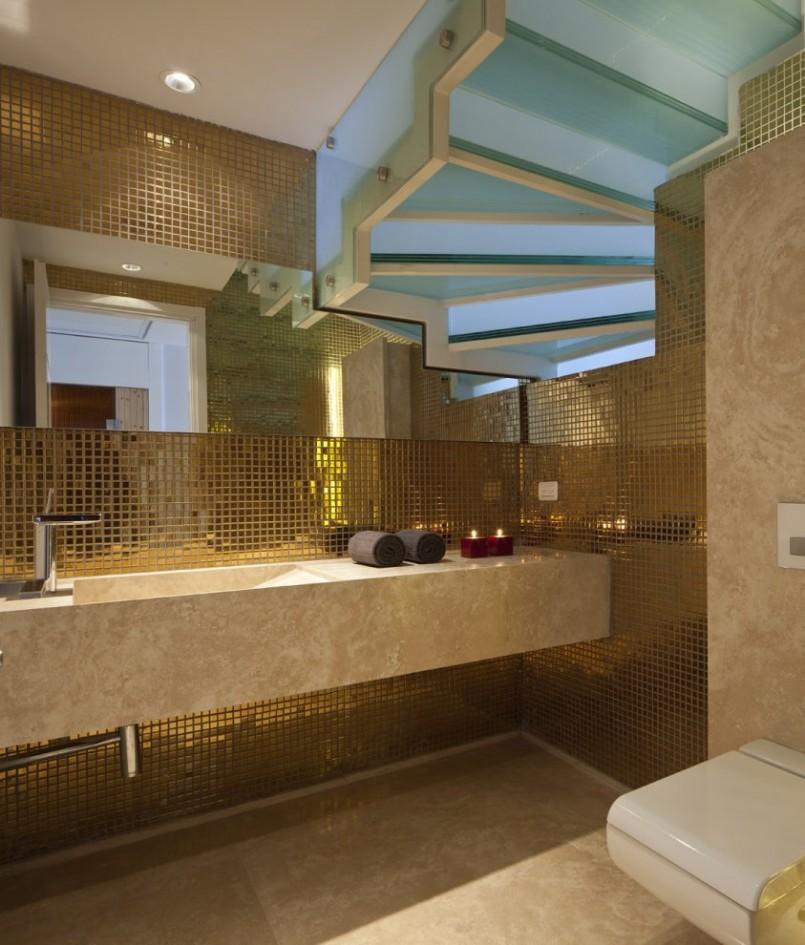 اشكال رائعة لسيراميك الحمامات باللون الذهبي المرسال