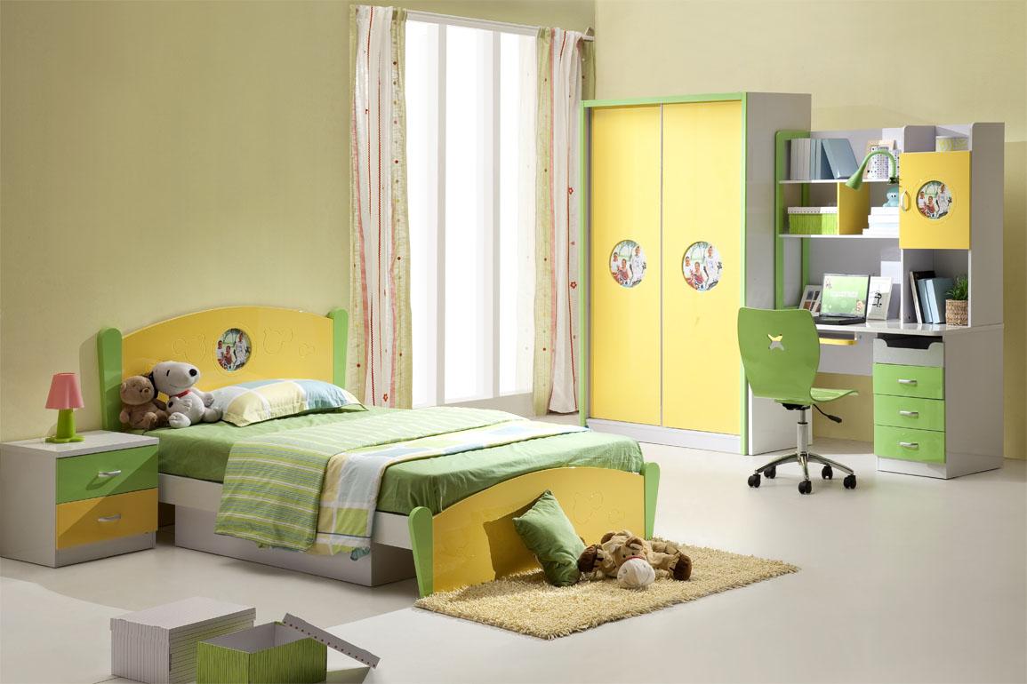 الاصفر والاخضر لغرف نوم الاطفال الموردن | المرسال