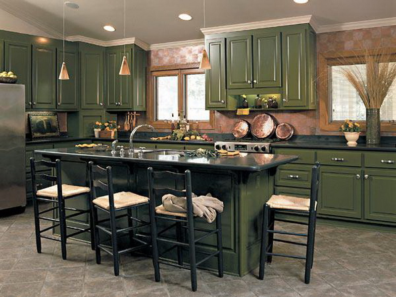 ���� ������� ٢٠١٤ ������ ����� Dark-Green-Cabinets-for-Kitchen-and-Dining-Table.jpg