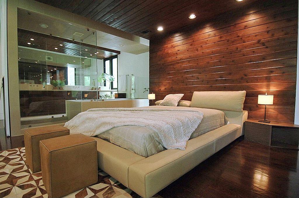 خلفية خشبية لغرف نوم رئيسية | المرسال