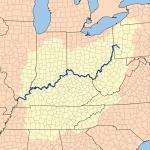 خريطة حوض نهر أوهايو  - 73990