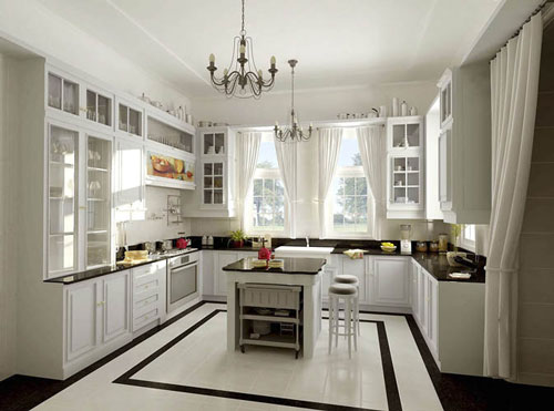 for Small square kitchen design ideas