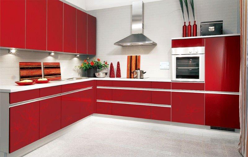 اكسسوارات رائعة لتزيين المطبخ باللون الاحمر   المرسال