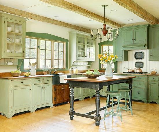 ���� ������� ٢٠١٤ ������ ����� beautiful-green-kitchens-4.jpg