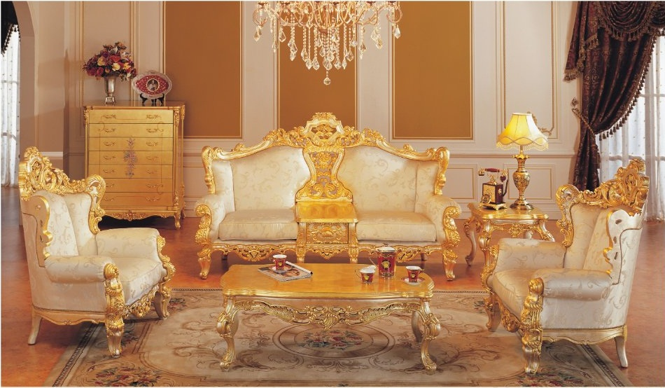 Classic Furniture Sofa Set All Golden Solid Wood Living Room Furniture Free Shipping on Elegant Living Room Furniture