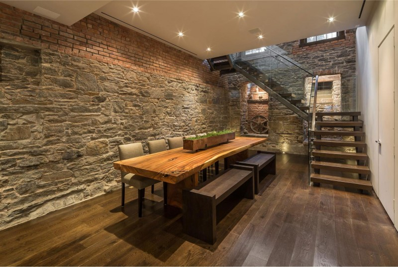 ������ ٢٠١٤ ����� ������ ٢٠١٤ contemporary-look-like-of-the-washington-place-for-a-five-star-house-dining-room-with-textured-wall-and-bricks-with-wooden-stairtcase-and-parquet.jpg