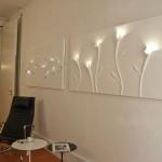 اضاءات مميزة للجدران الجبسية باللون الابيض - 78940