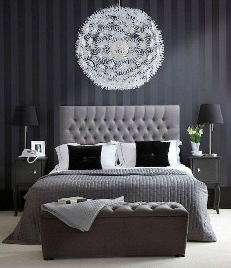 اللون الرصاصي بغرف نوم رومانتيك | المرسال