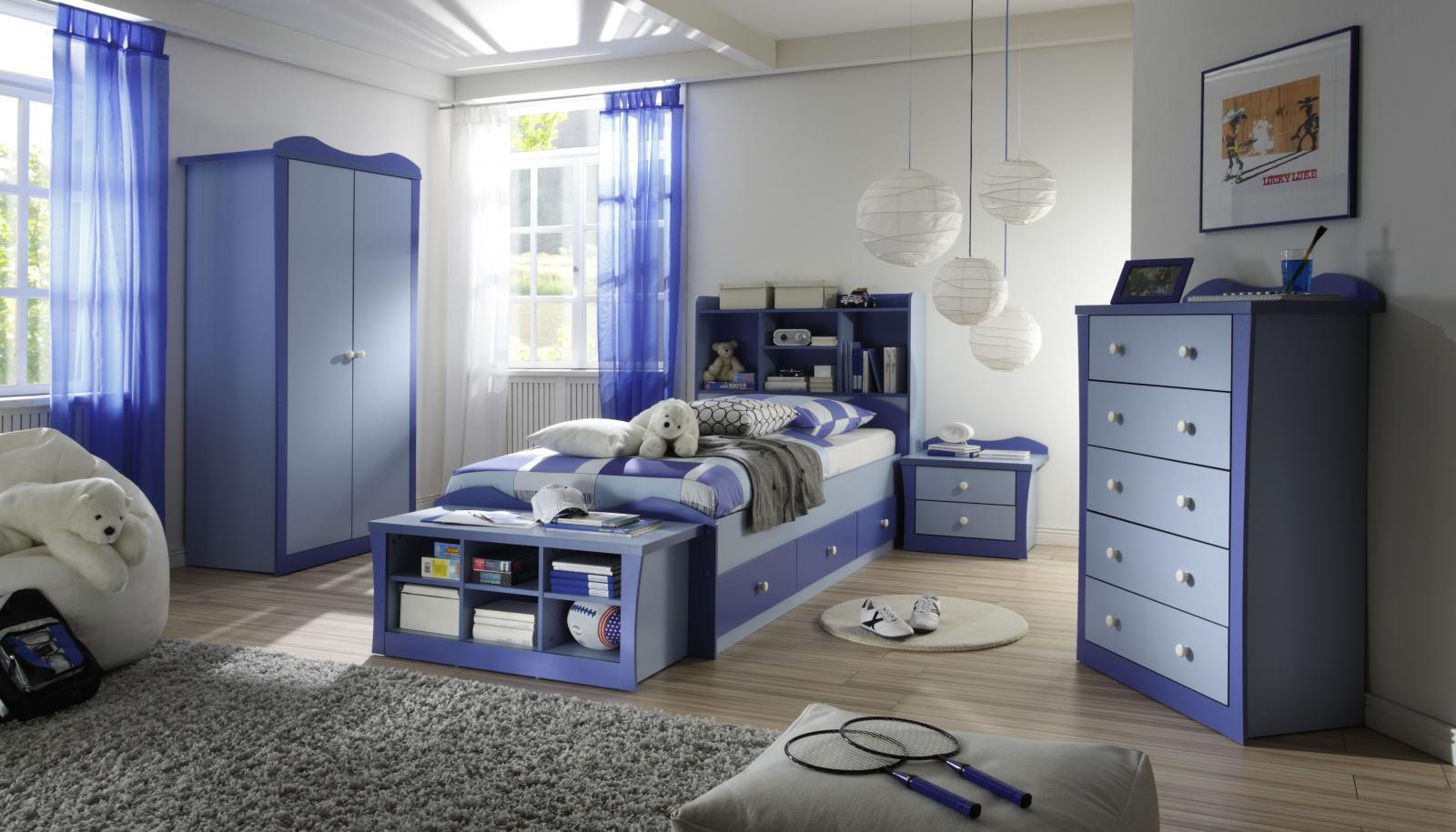غرف نوم زرقاء اللون | المرسال