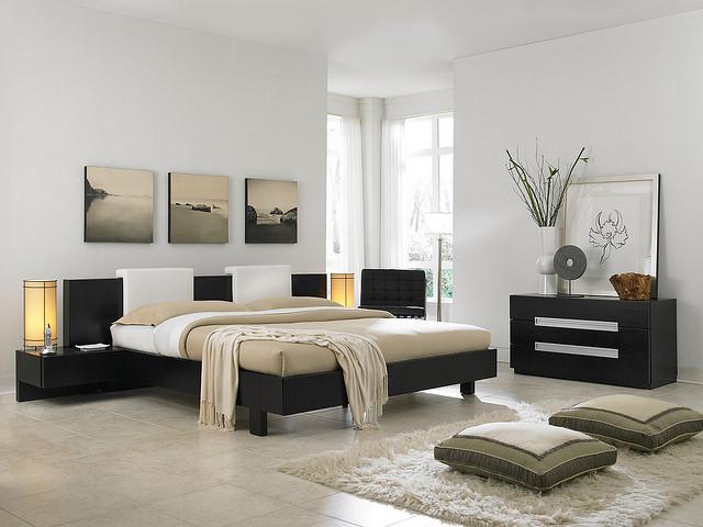 موديلات غرف نوم بني وابيض مذهلة | المرسال