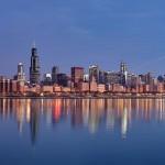 أفق مدينة شيكاغو  عند شروق الشمس - 82411