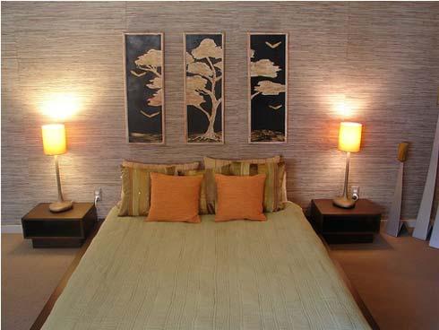 ديكورات اضاءه غرف نوم   المرسال