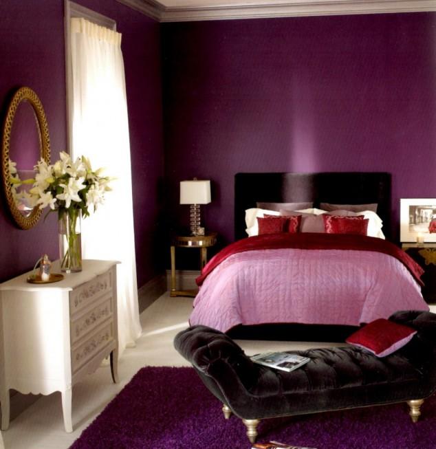 احدث اشكال غرف نوم لون بنفسجي | المرسال