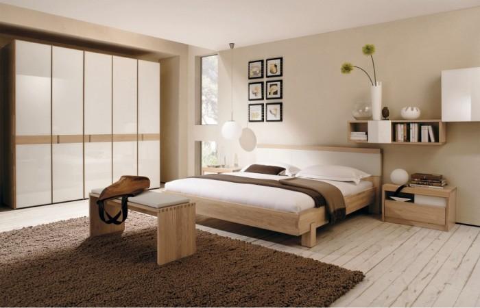 تصاميم غرف نوم حلوة باللون البيج والبني | المرسال