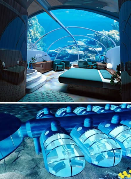 غرف نوم تحت الماء مذهلة | المرسال