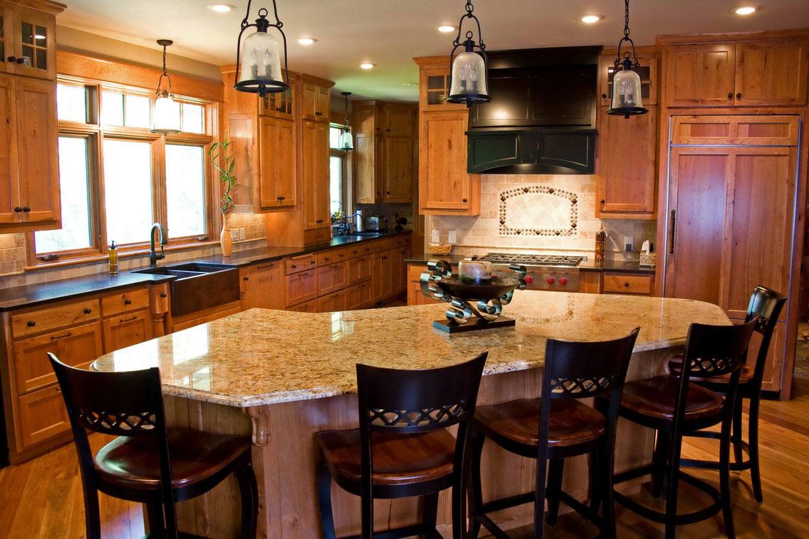 ستايلات مطبخ مع طاولة حديثة المرسال
