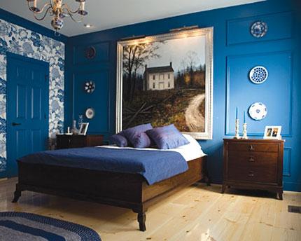 ديكورات غرف نوم زرقاء | المرسال