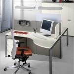 الوان فاتحة لتصميم غرف مكتب حديثة  - 82080