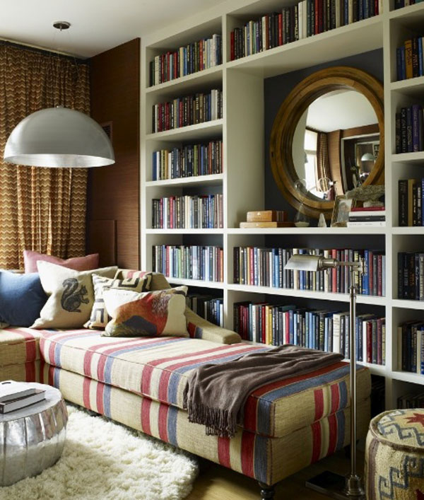غرف مكتبية بالمنزل باللون الابيض | المرسال