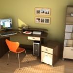دواليب انيقة بغرف مكتب صغيرة - 81608