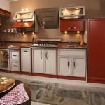 تصاميم رائعة لمطابخ قبنوري باللون الاحمر والابيض - 80854