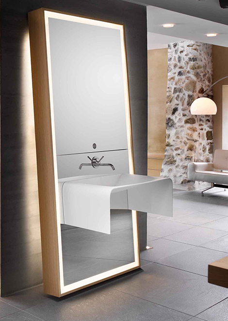 ������ ������ �������� 2015 ������ Contemporary-Bathroom-Sink-Backlit-Leaning-Mirrors-Interiors-Designs.jpg