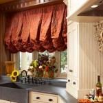 افكار لستائر المطبخ