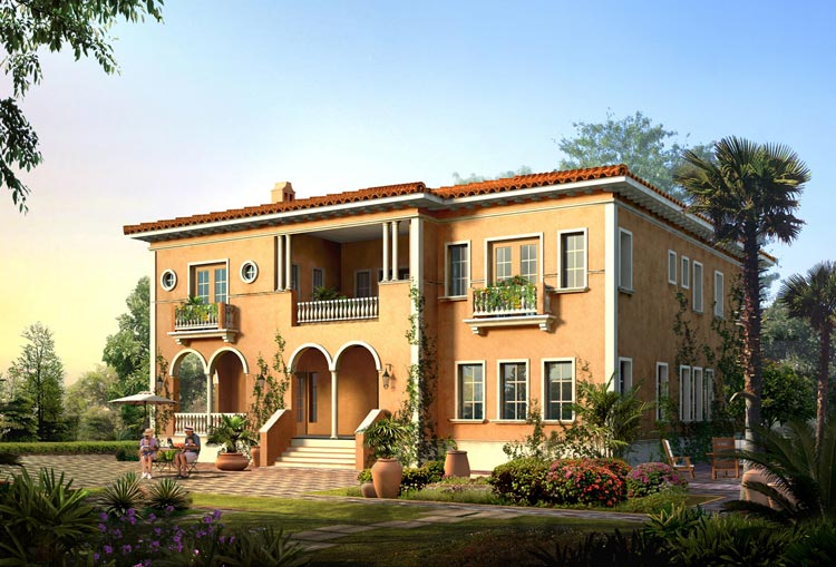 Superior Italian Villa Blueprints 4 Italian Villas