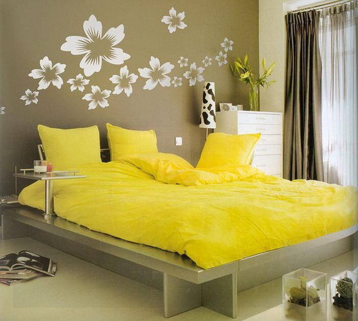 غرف نوم باللون الاصفر | المرسال