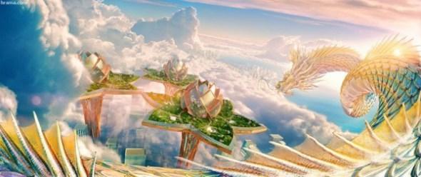 صورة السماء والسحاب في سحابة من السماء