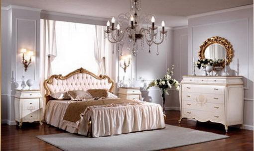 غرفة نوم بيضاء كلاسيكيه | المرسال