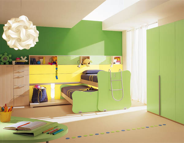 غرفة أطفال بسريرين