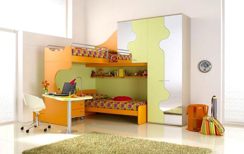 غرف نوم اطفال دورين للمساحات الضيقة | المرسال