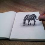 رسومات ثلاثية الابعاد بقلم الرصاص