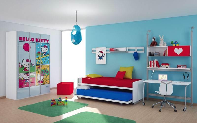 الازرق والابيض بغرف نوم اطفال   المرسال
