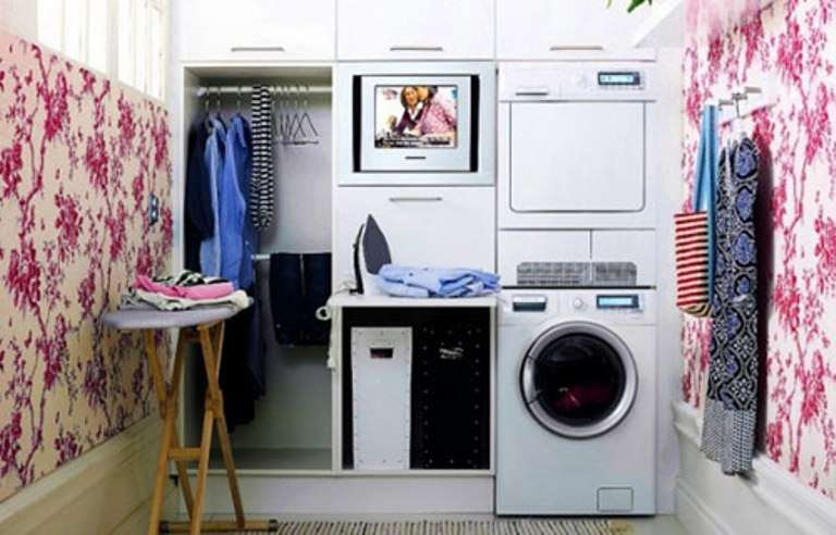 ����� ������ ٢٠١٥ ����� ����� Clean-Look-Laundry-Room-with-Lots-of-Small-Storage.jpg