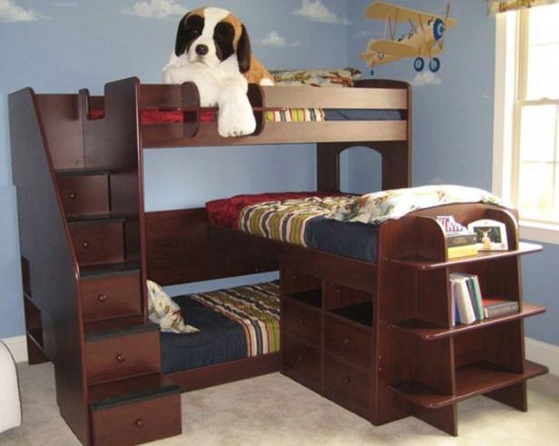 سرير ثلاث ادوار بغرف نوم اطفال روعة | المرسال