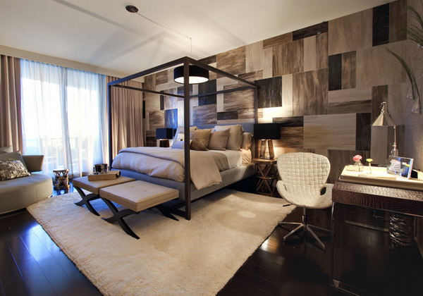 ������� ������ ٢٠١٤ ������ ������ Modern-Bedroom-Ideas-with-Wallpaper-and-Working-Area.jpg