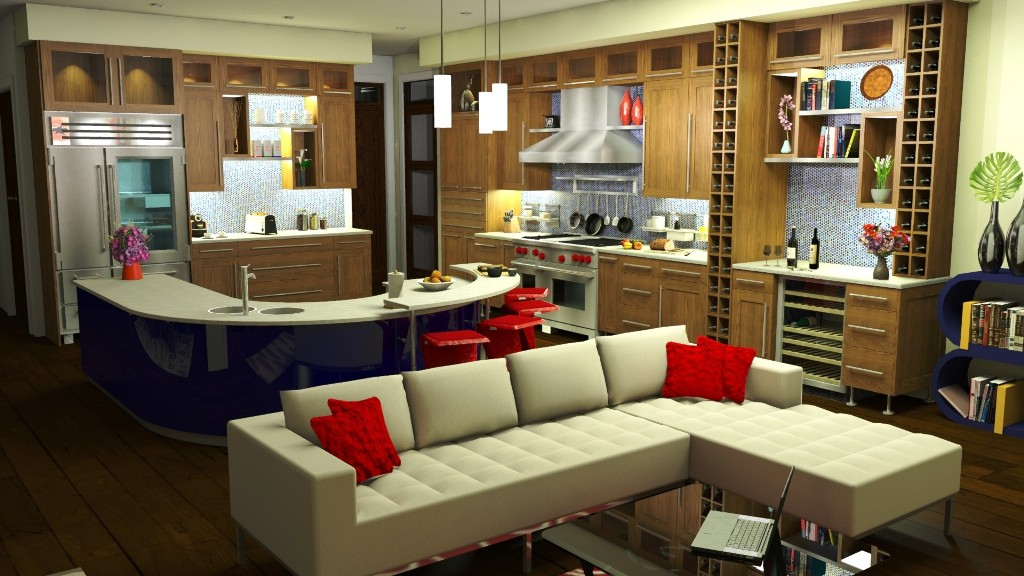 kitchens 3d. Black Bedroom Furniture Sets. Home Design Ideas