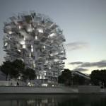 برج الشجرة البيضاء يحاكي شجرة بفروعها في فرنسا