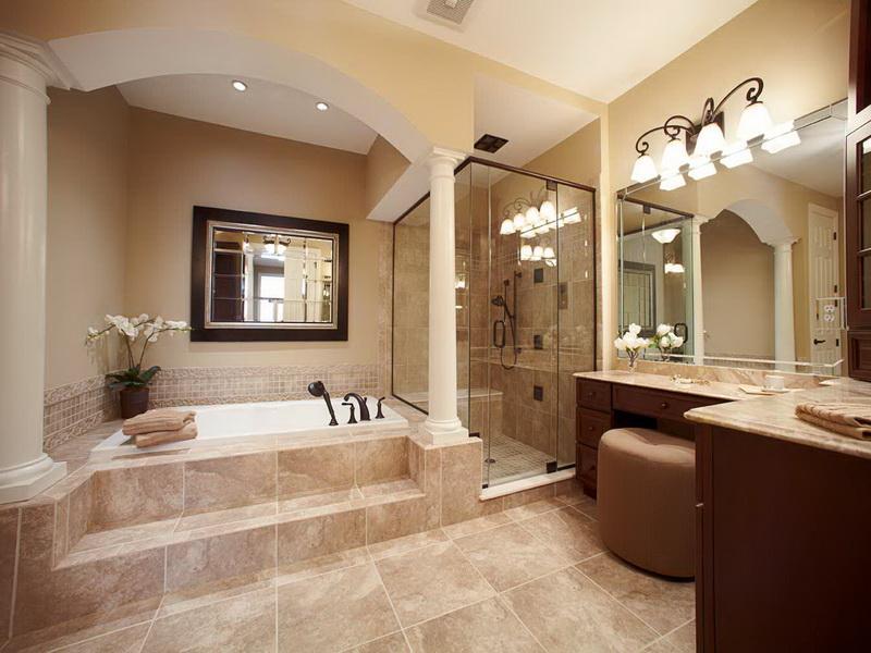 رخام حمامات جميلة بلونه البيج