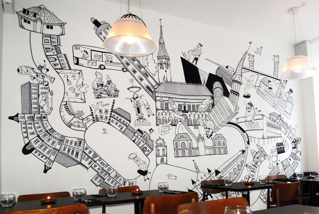 Stencils On Wall
