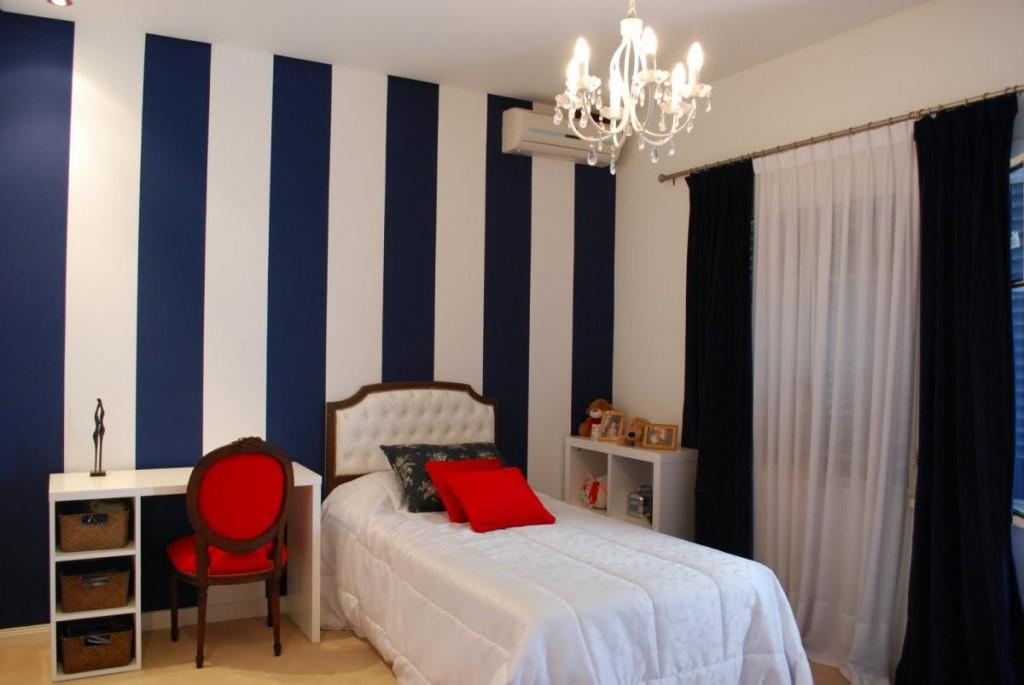 غرف نوم بجدران جميلة مخططة | المرسال